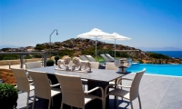Luxury-seafront-villas-for-sale-in-Chania-Crete-Greece-external-dining-area