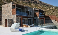 Twins villas in Elounda with private beach